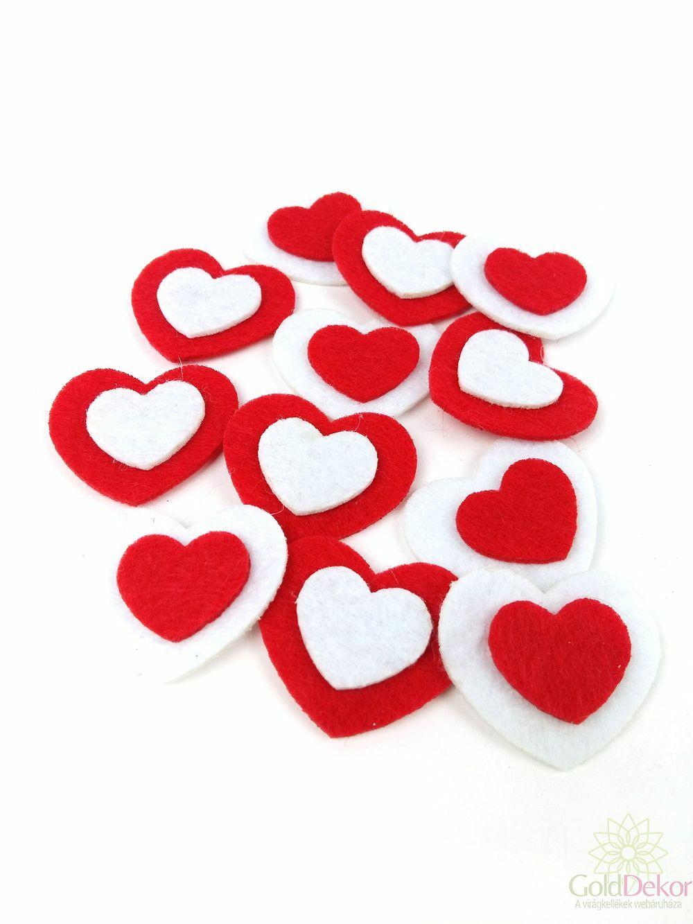 Filc szív öntapi 2 rétegű