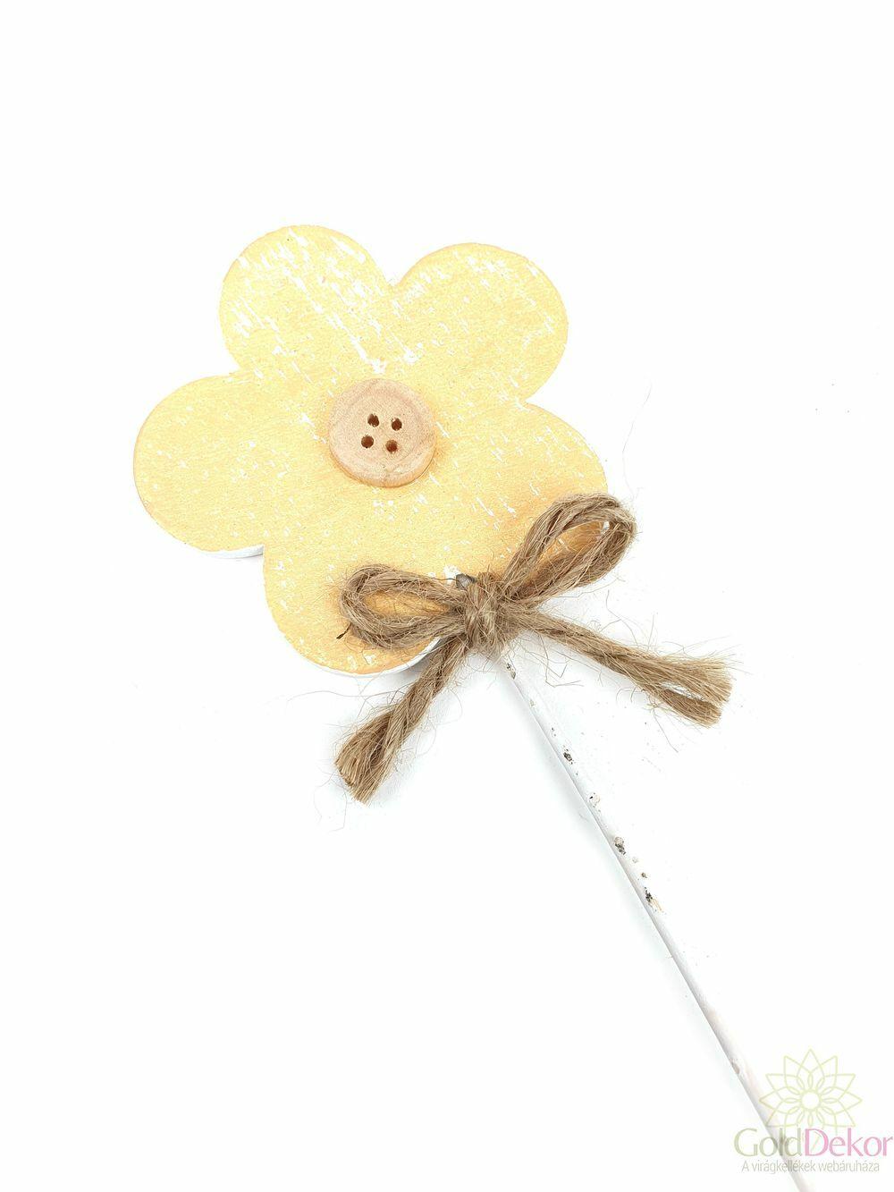 Koptatott fa virág betűző - Okker sárga