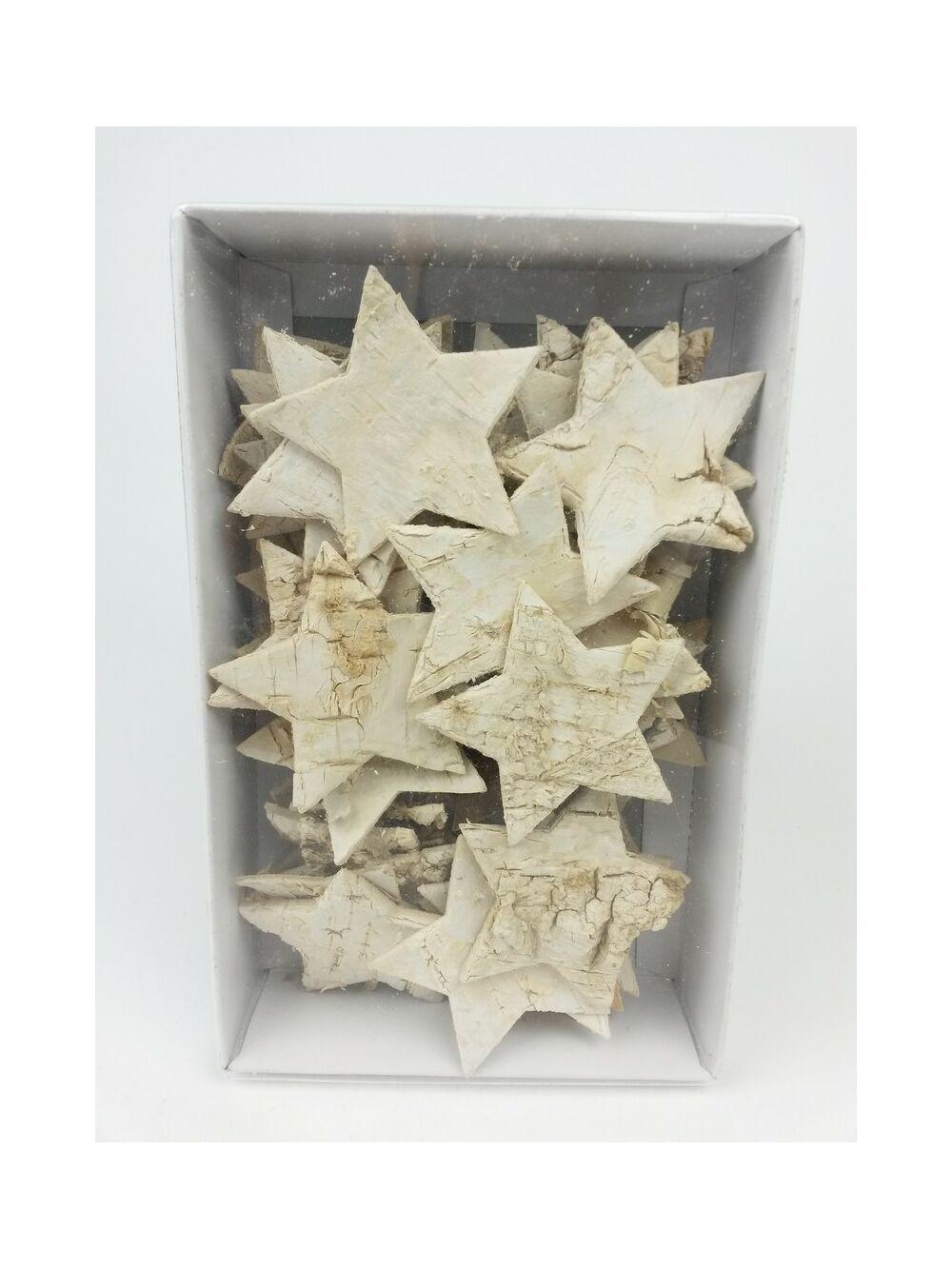 Nyírfa csillag natúr -6 cm