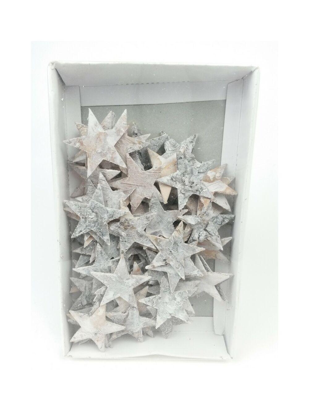 Nyírfa csillag 4 cm hamvas