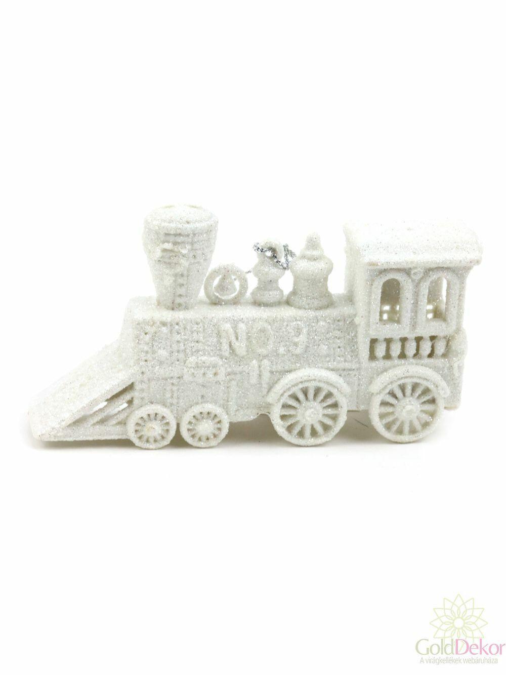 Csillámos akasztós vonat