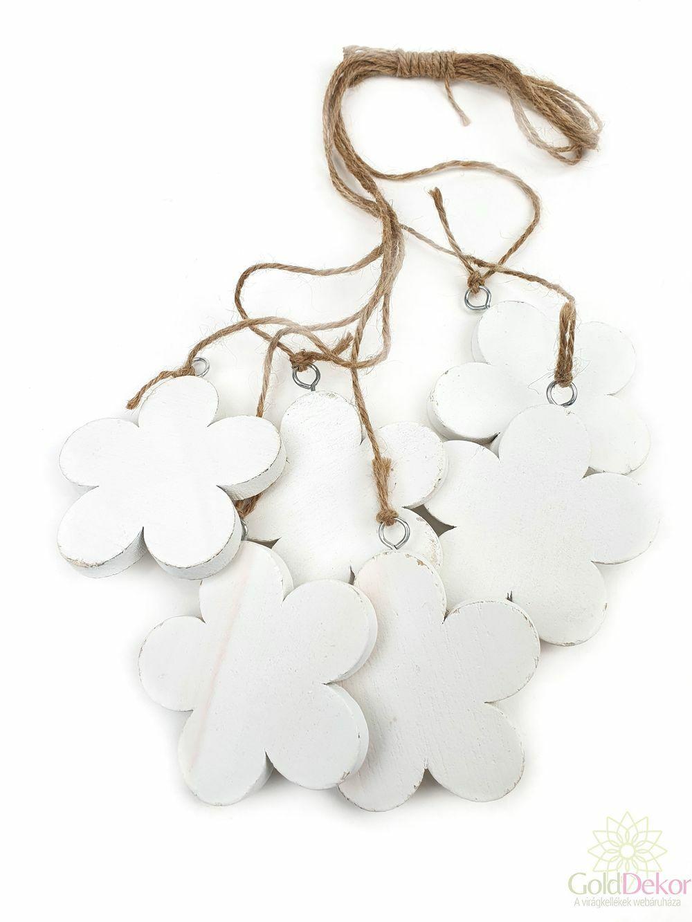 Fa virág-6,5*6-Fehér