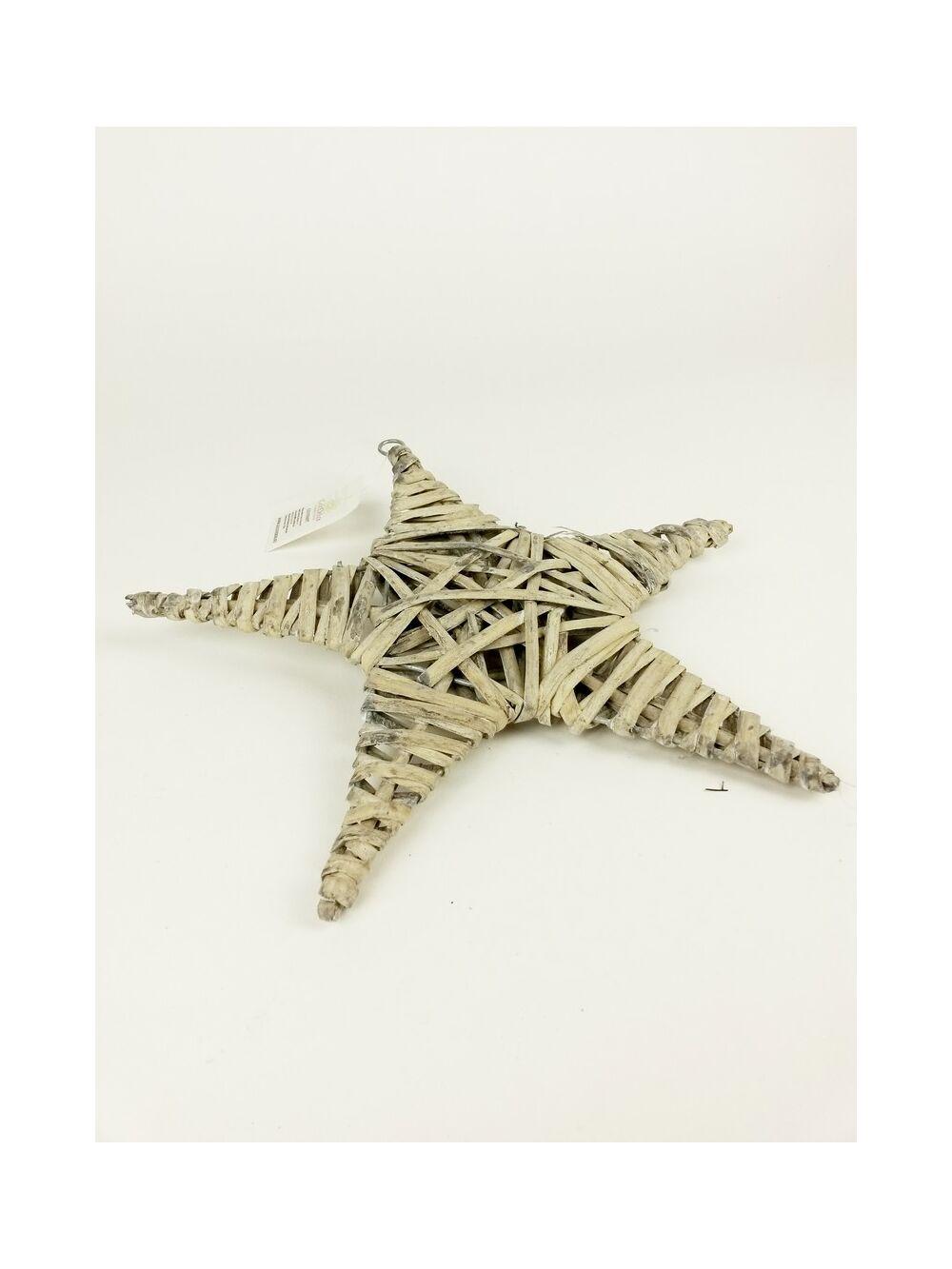Vessző csillag 25 cm - Szürke