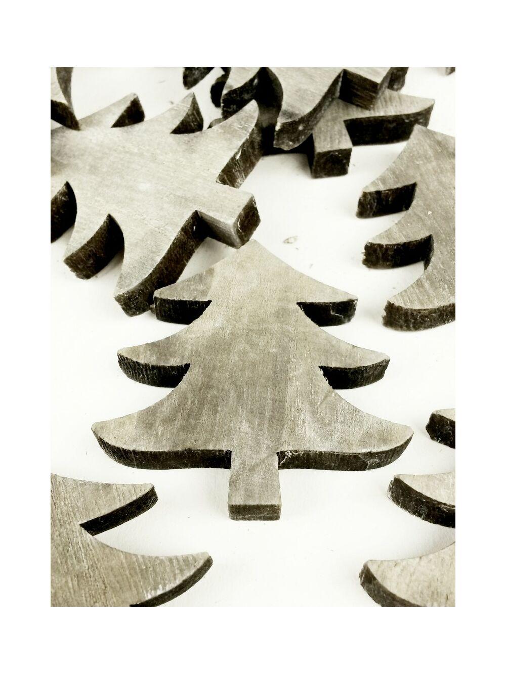 Fa dekor fenyőfa - Szürke