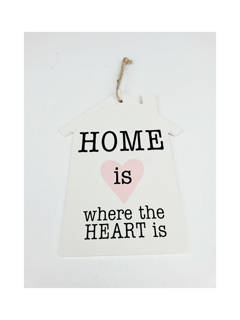 Feliratos dekor tábla ház - Heart