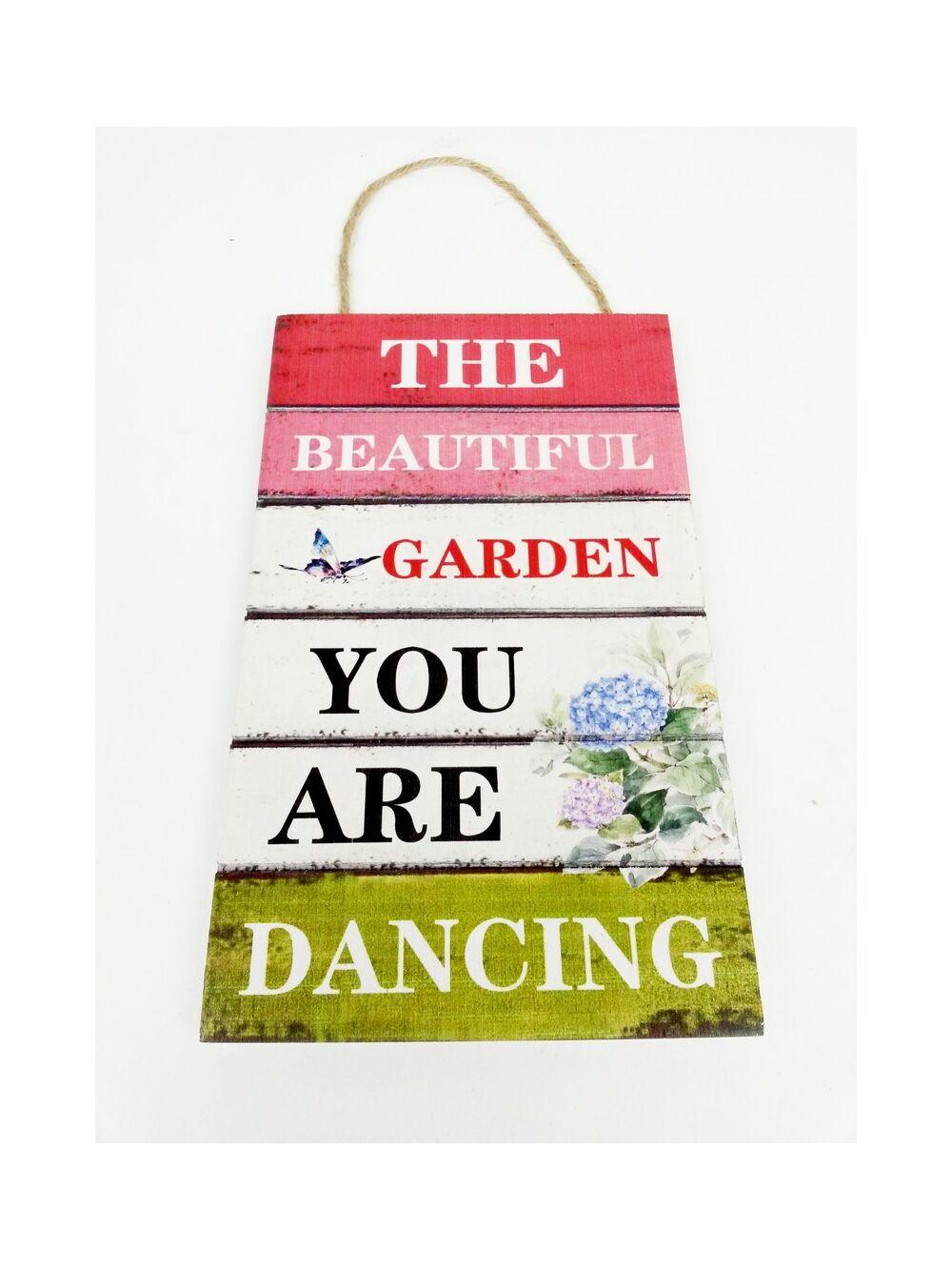 Feliratos dekor tábla virágos - Beautiful