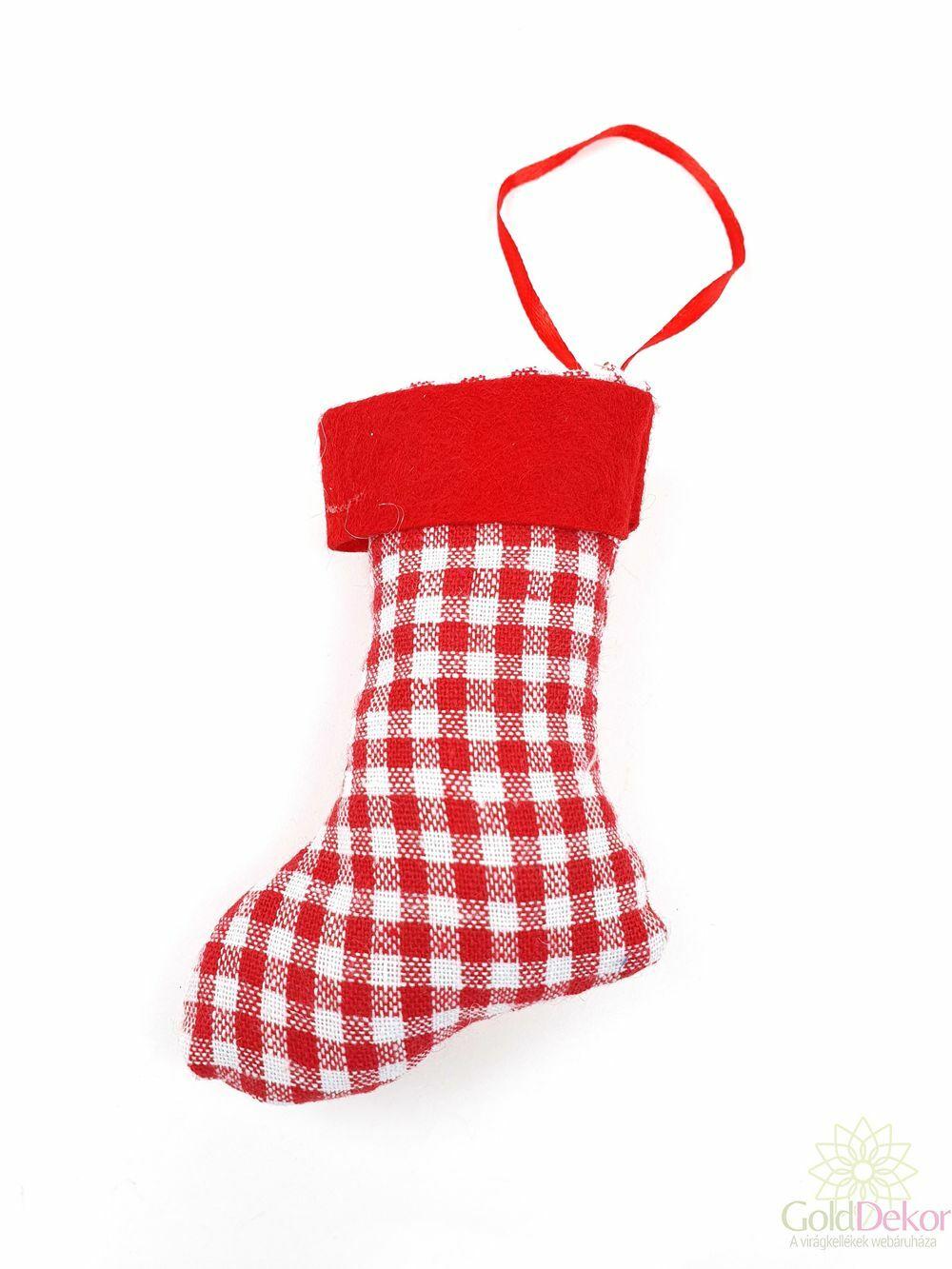 Kockás textil csizma