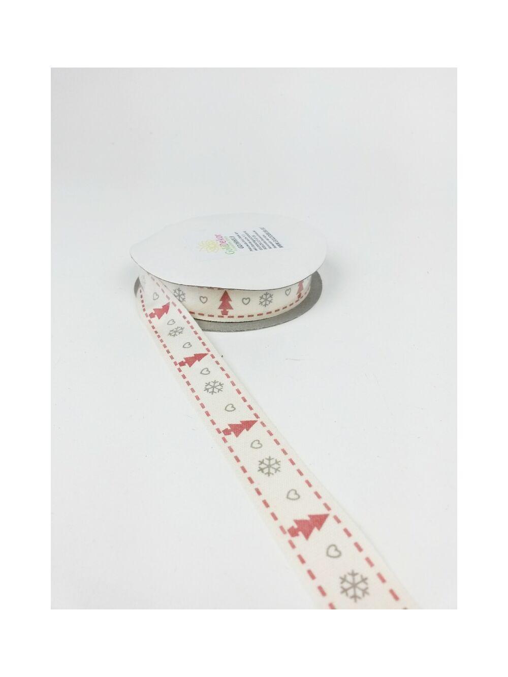 Kari mintás textil szalag - fenyő