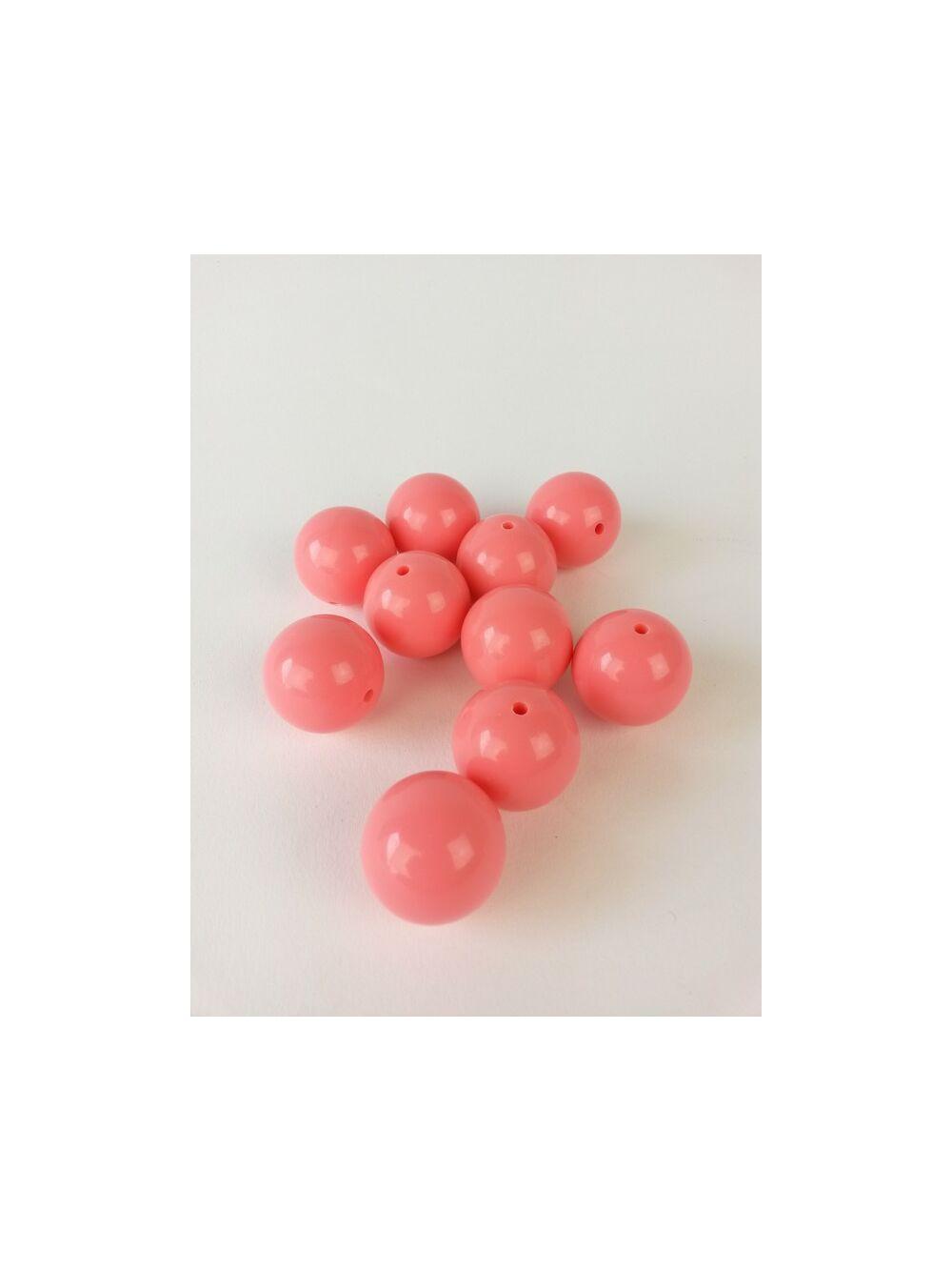 Gyöngy pasztel 25mm - Koral