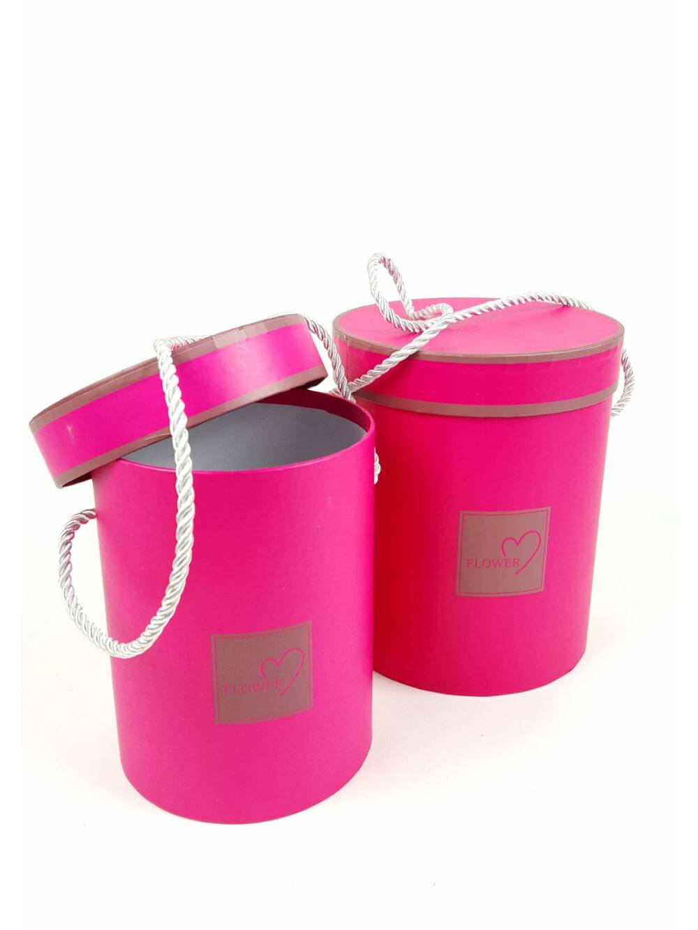 Virág doboz henger szett - Pink