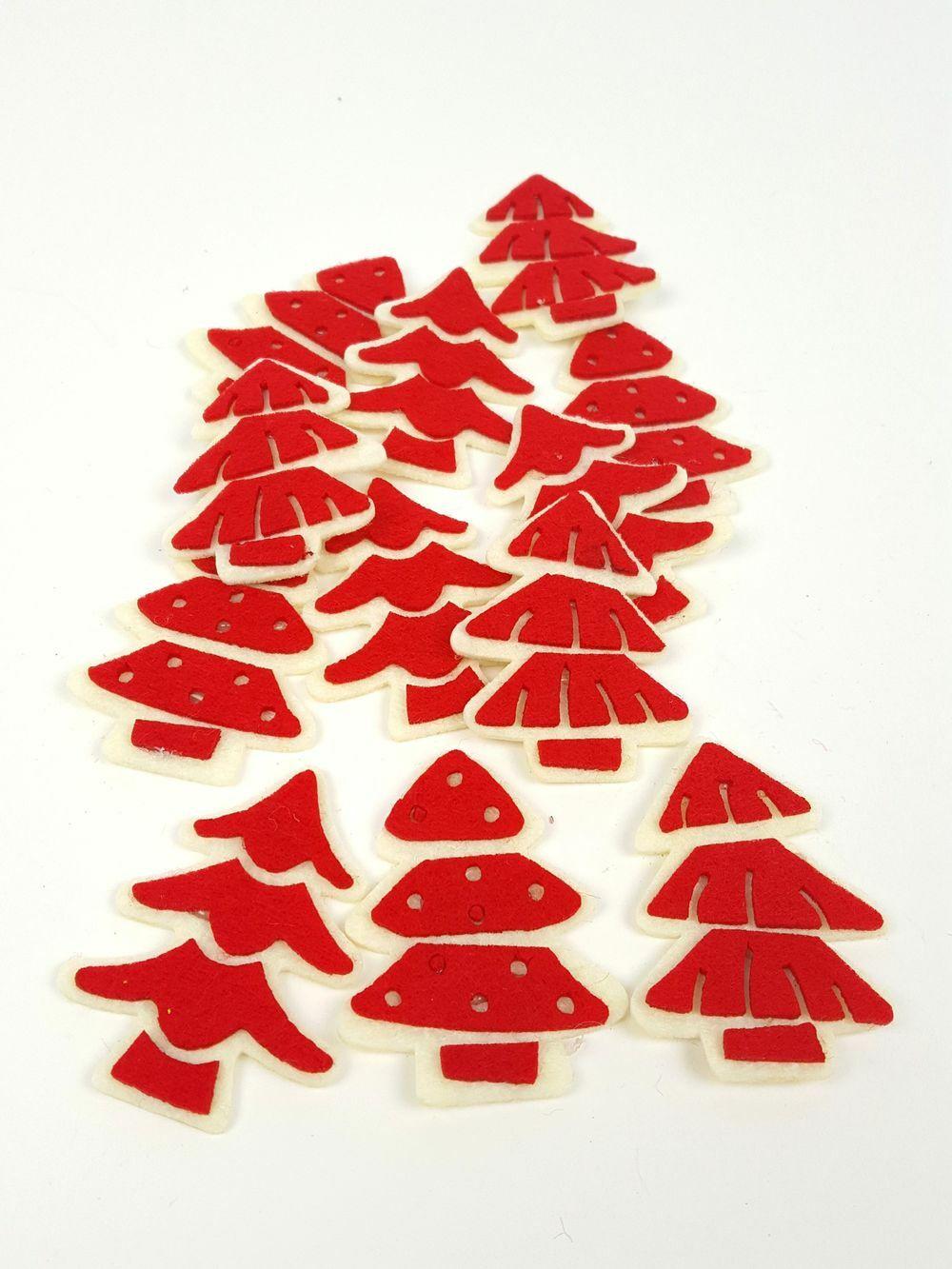 Filc fenyőfa szett - Piros