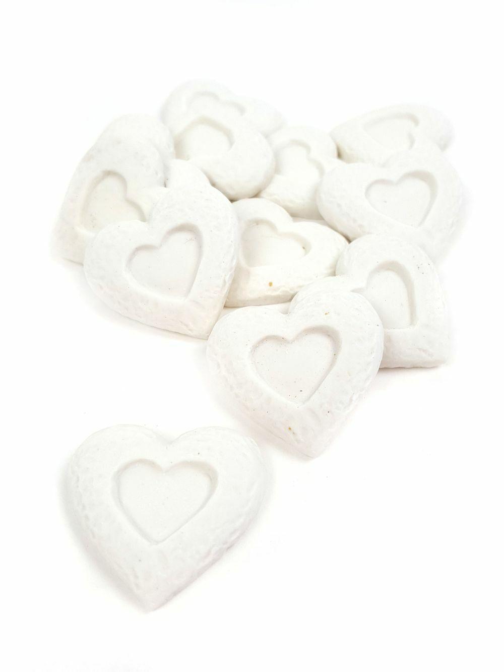 Polyresin nyomott mintás szív
