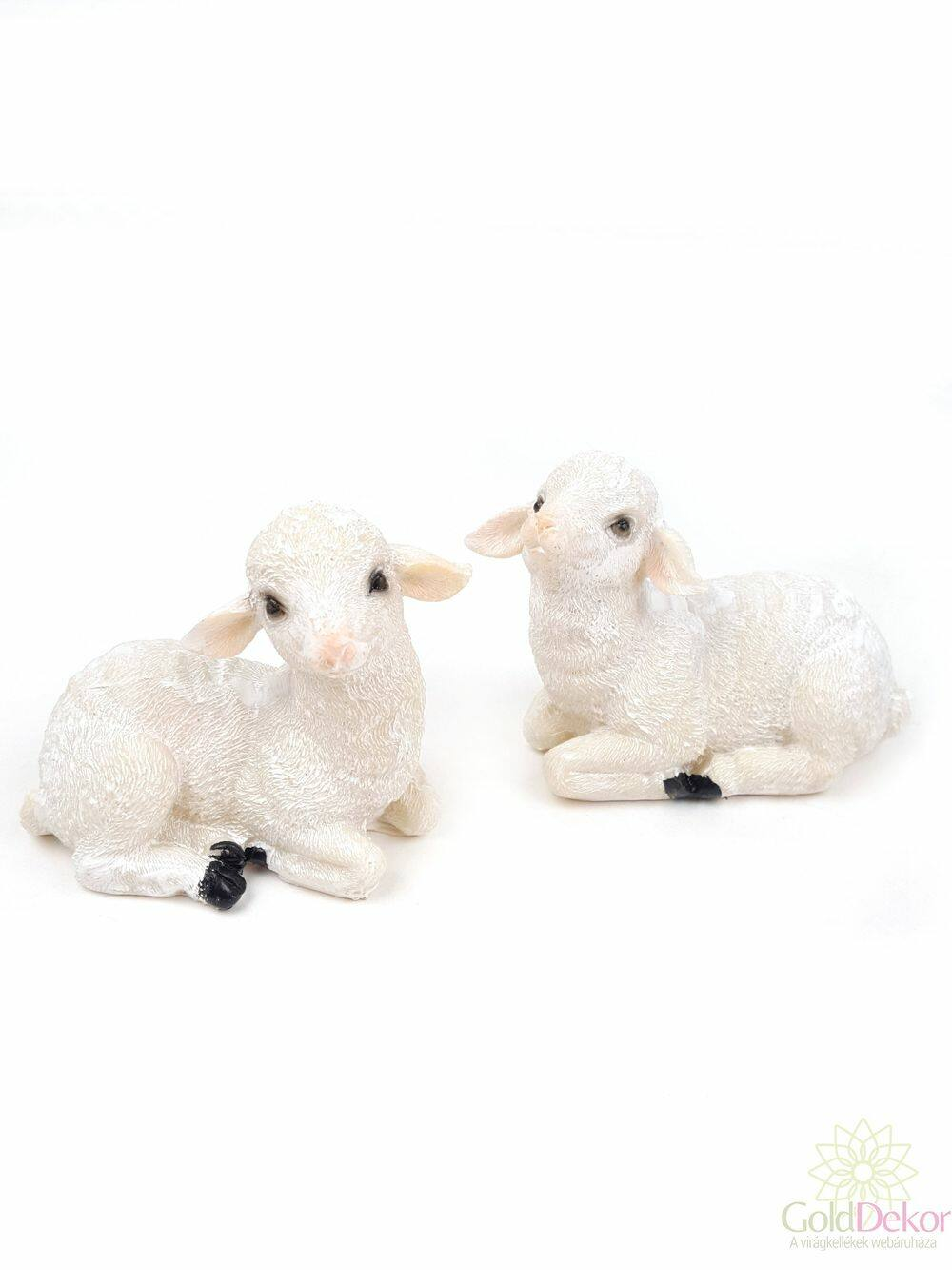 Fekvő bárány figura