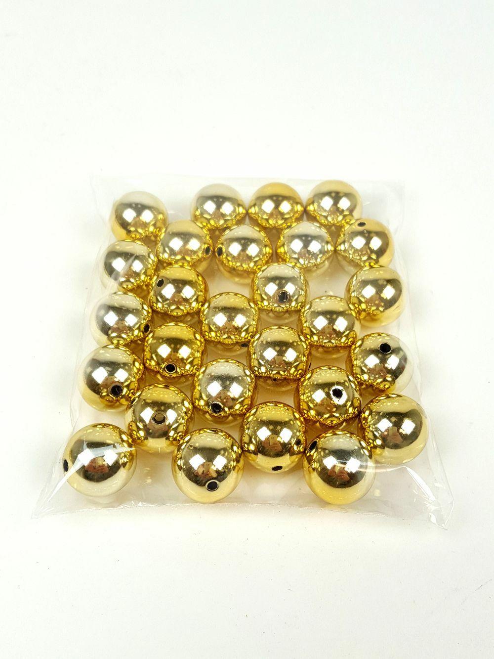 Metál gyöngy - Világos arany
