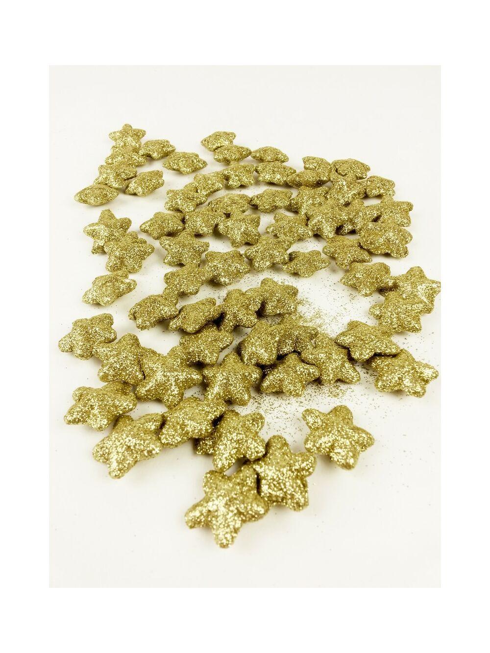 Glitteres csillag kicsi- Arany