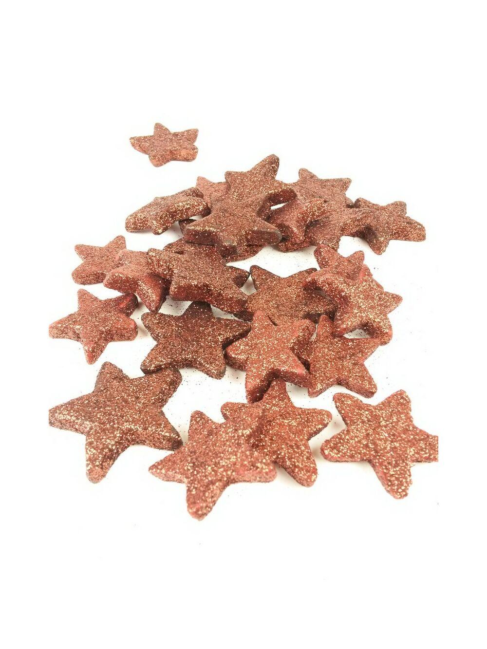 Glitteres csillag vastag - Barna