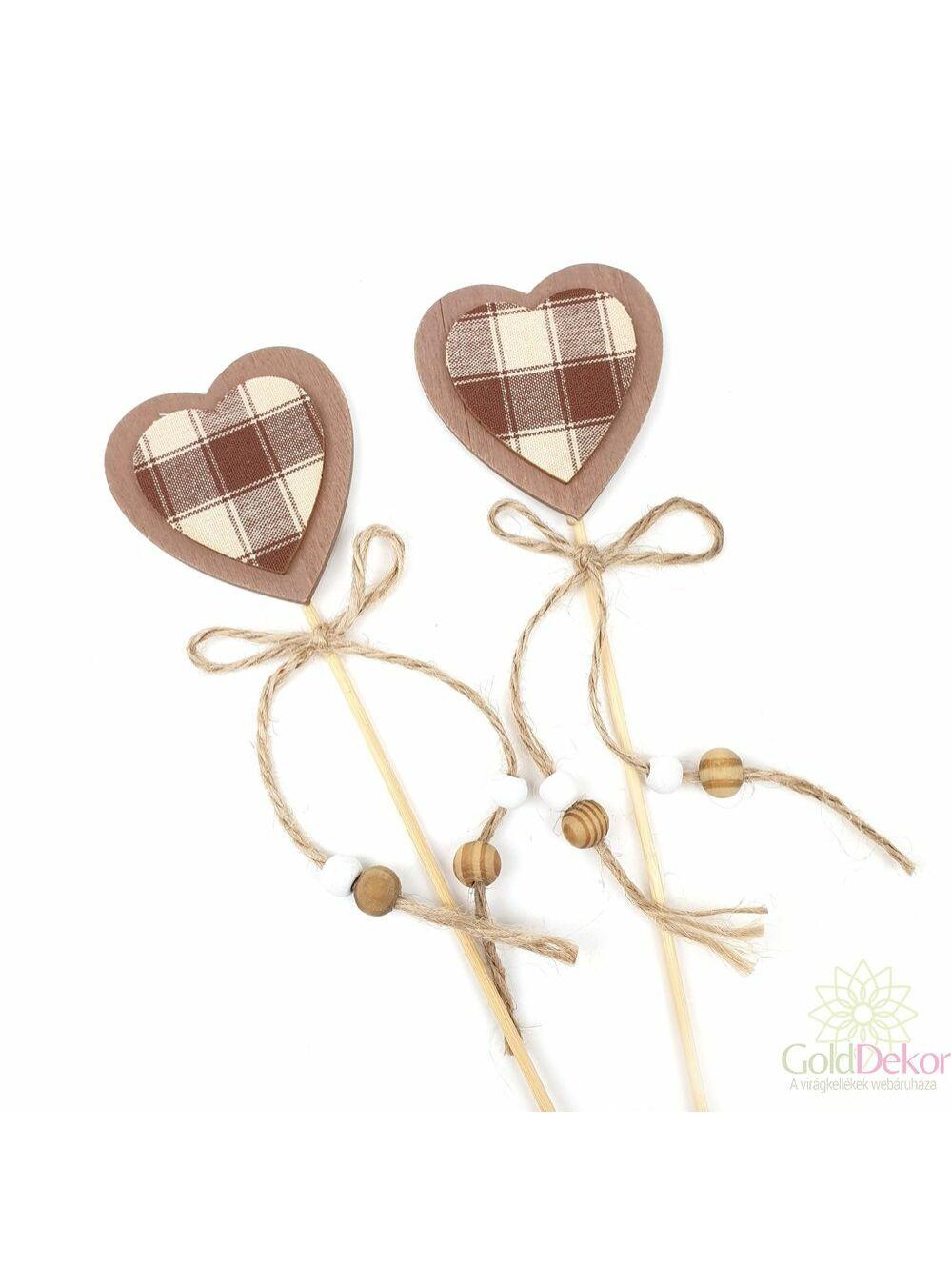Kari betűző barna kockás - szív