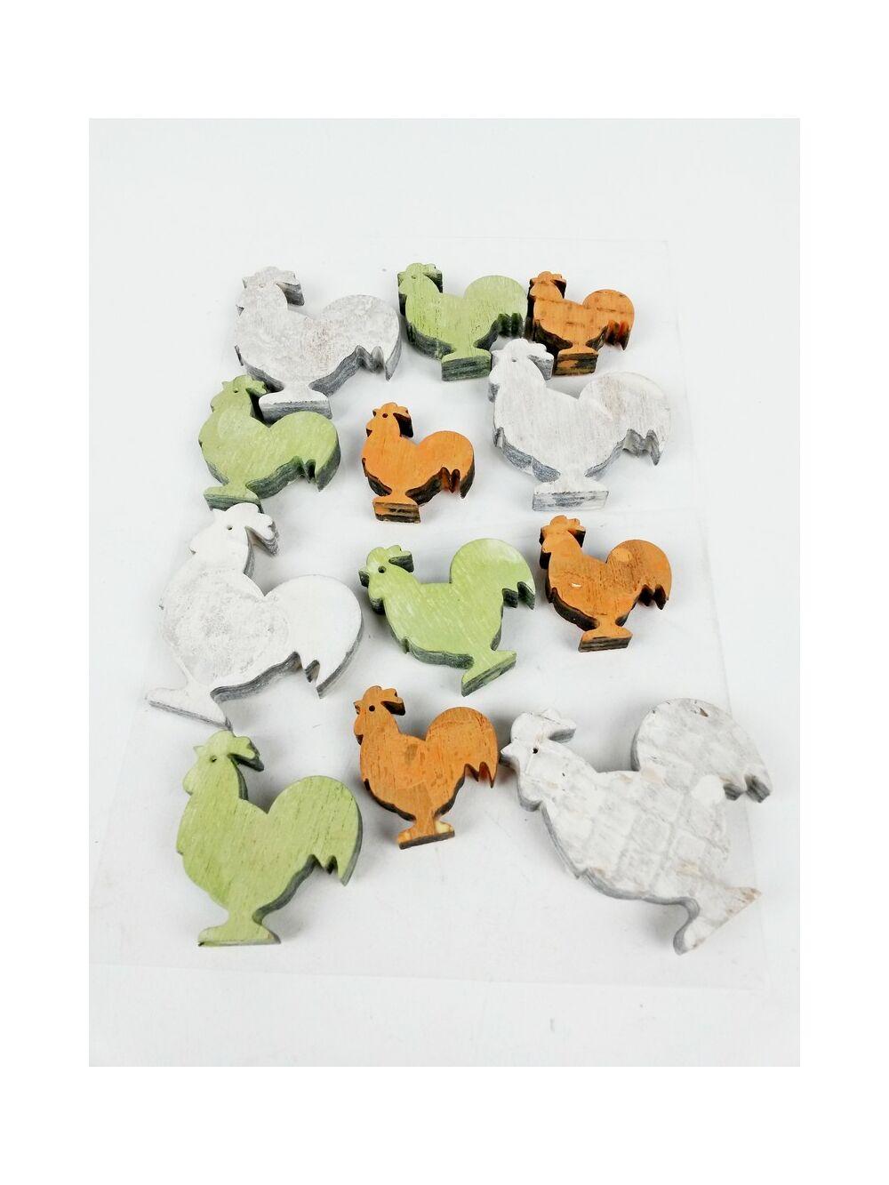 Öntapi hamvas színes - Kakas