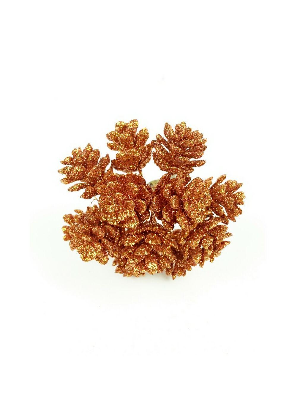 Glitteres toboz pikk - Narancs
