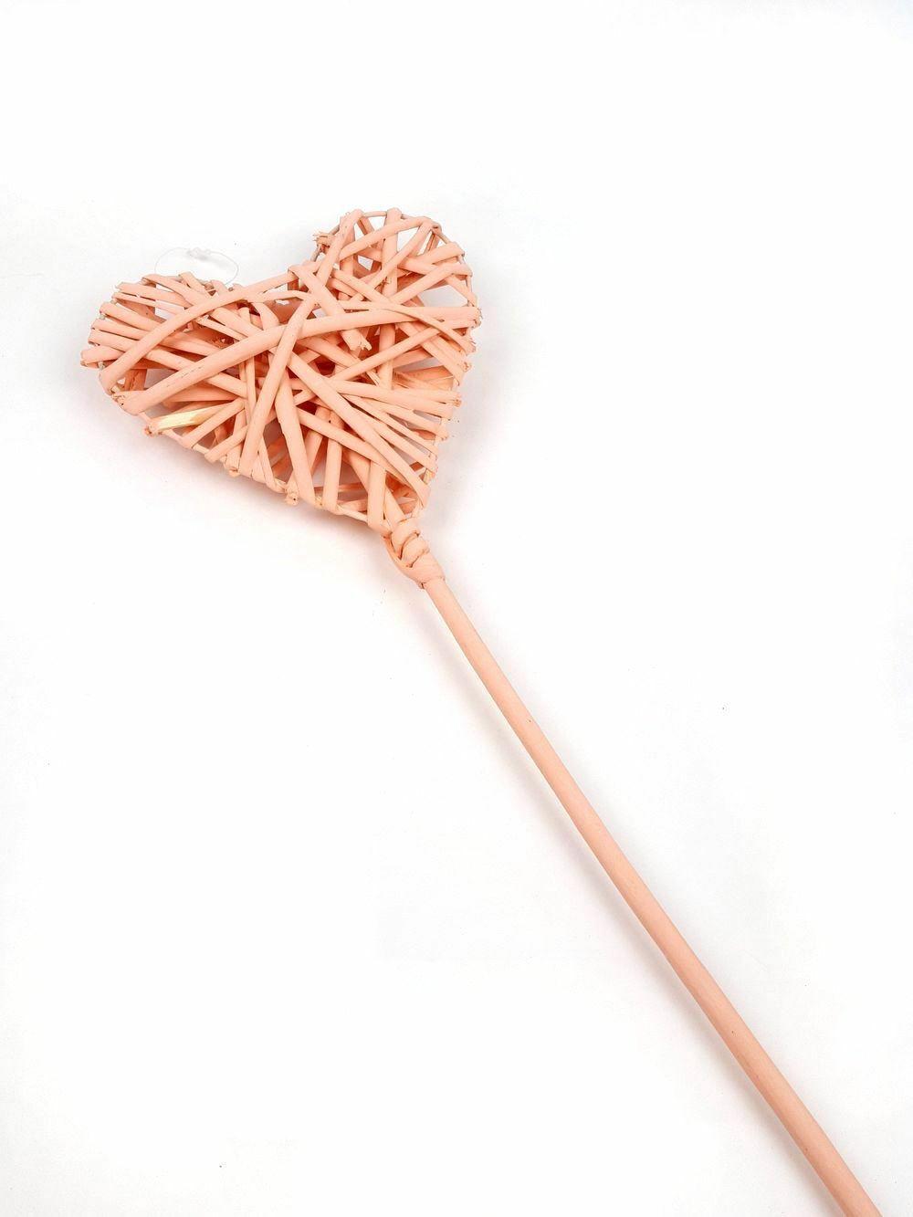 Rattanszív betűző nagy pasztel - Rózsaszín