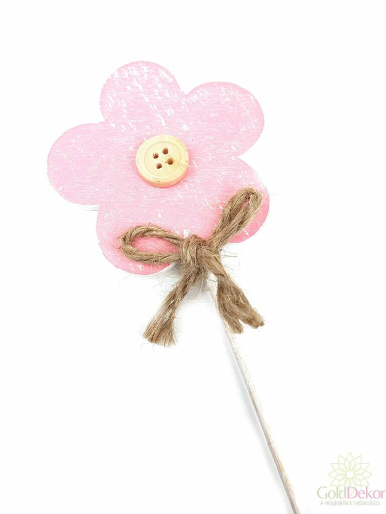 Koptatott fa virág betűző - Rózsaszín