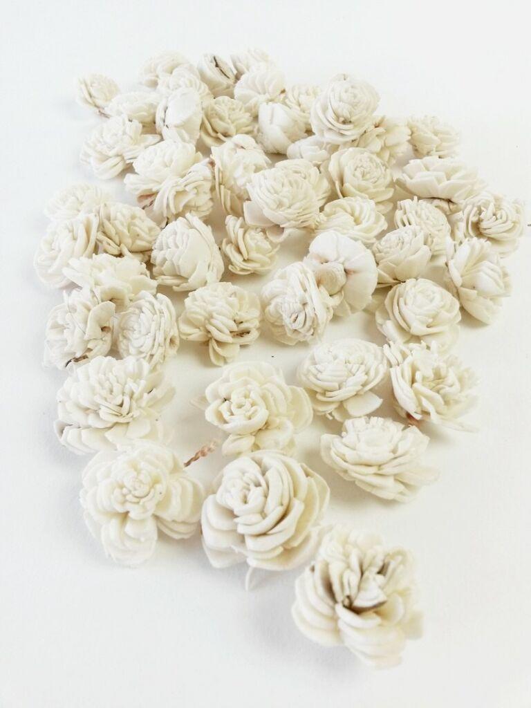 Shola belly virág-KICSI FEHÉR