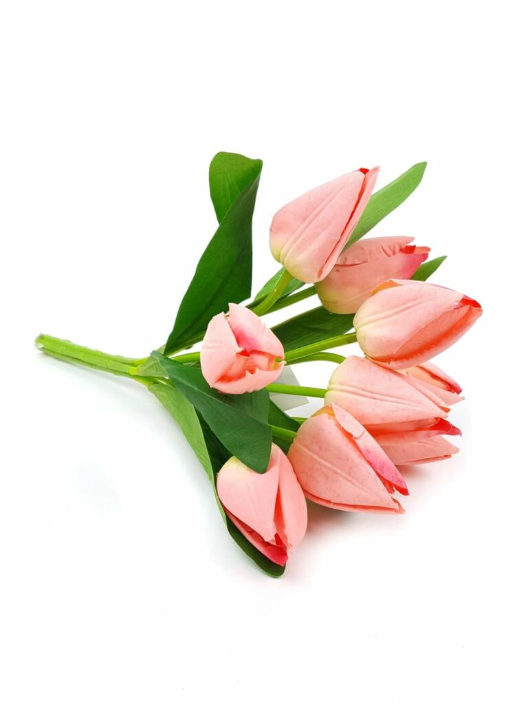 Pasztel színű tulipán csokor - Barack