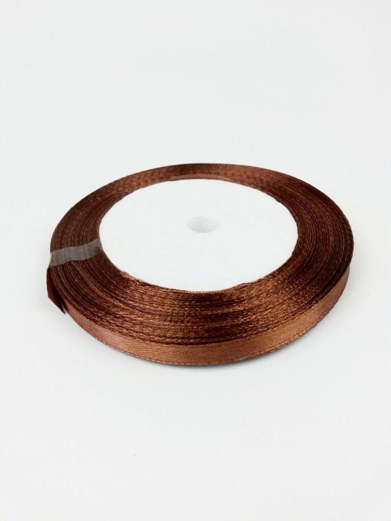 6 mm-es szatén szalag - Sötét barna 7aa7de6c4a