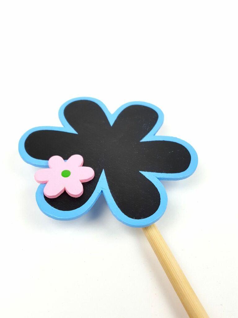 Színes virág tábla betűző - Kék