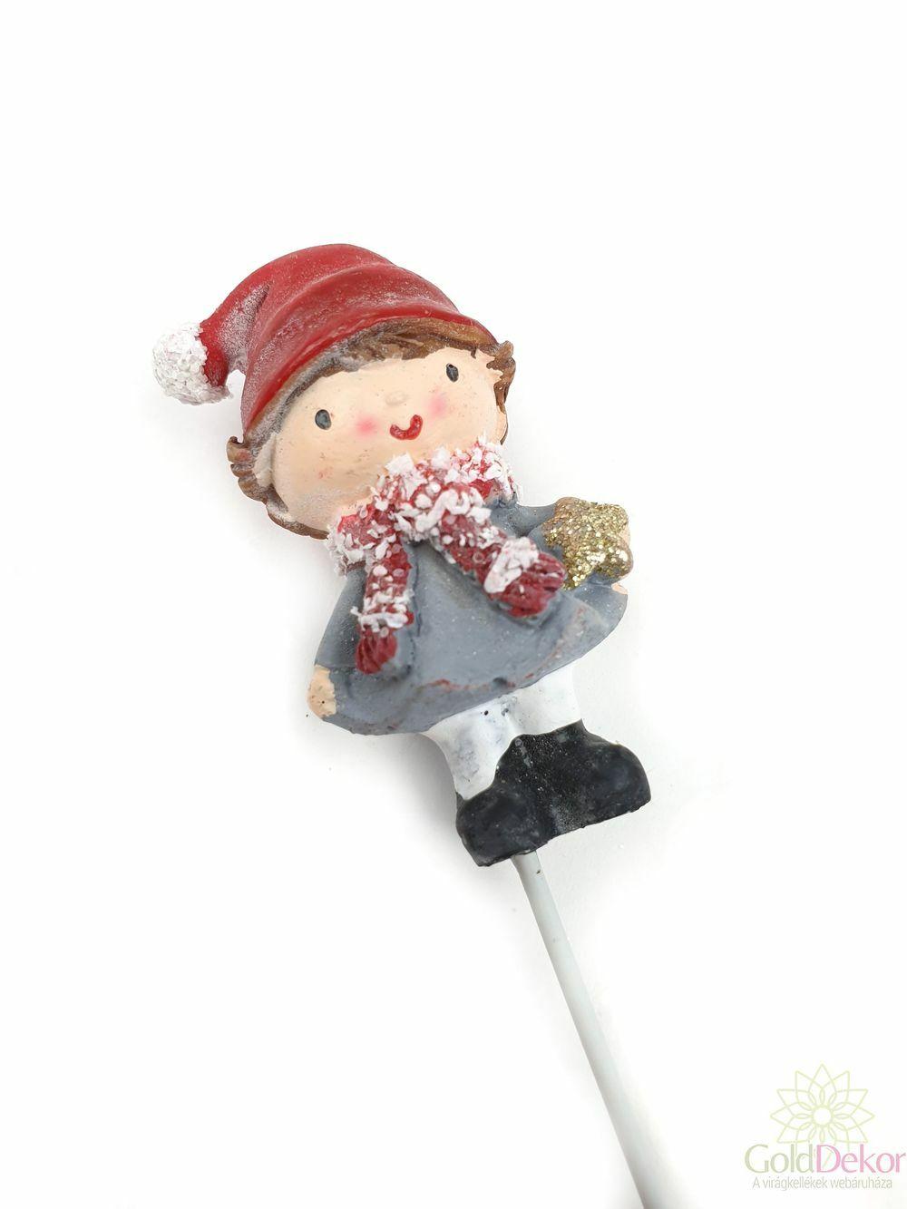 Sapkás gyermek betűző - Piros sapkás