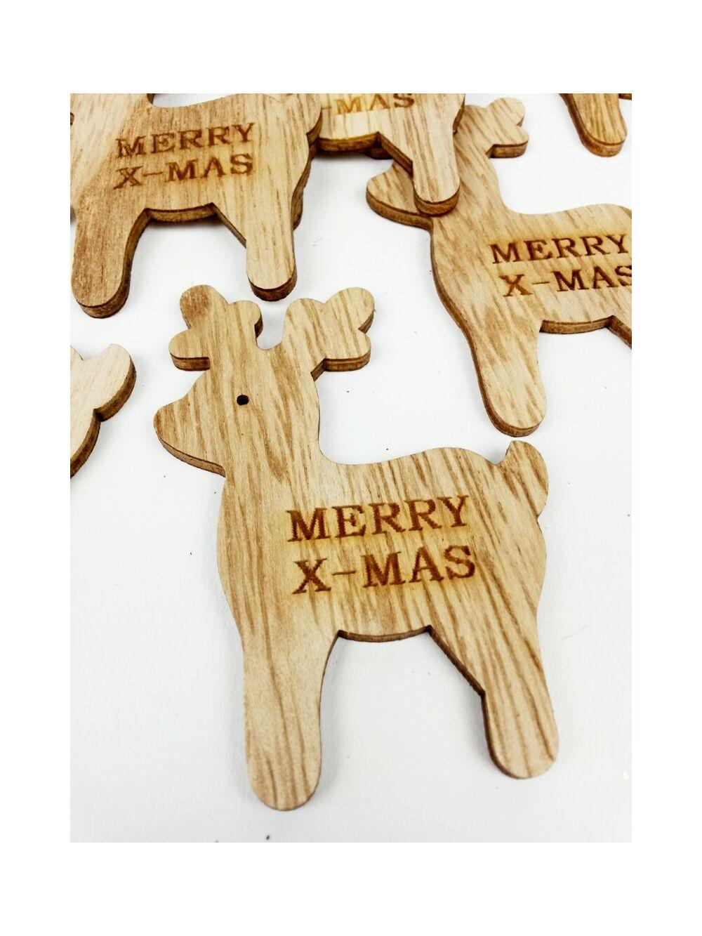 Natúr Merry X-mas rénszarvas