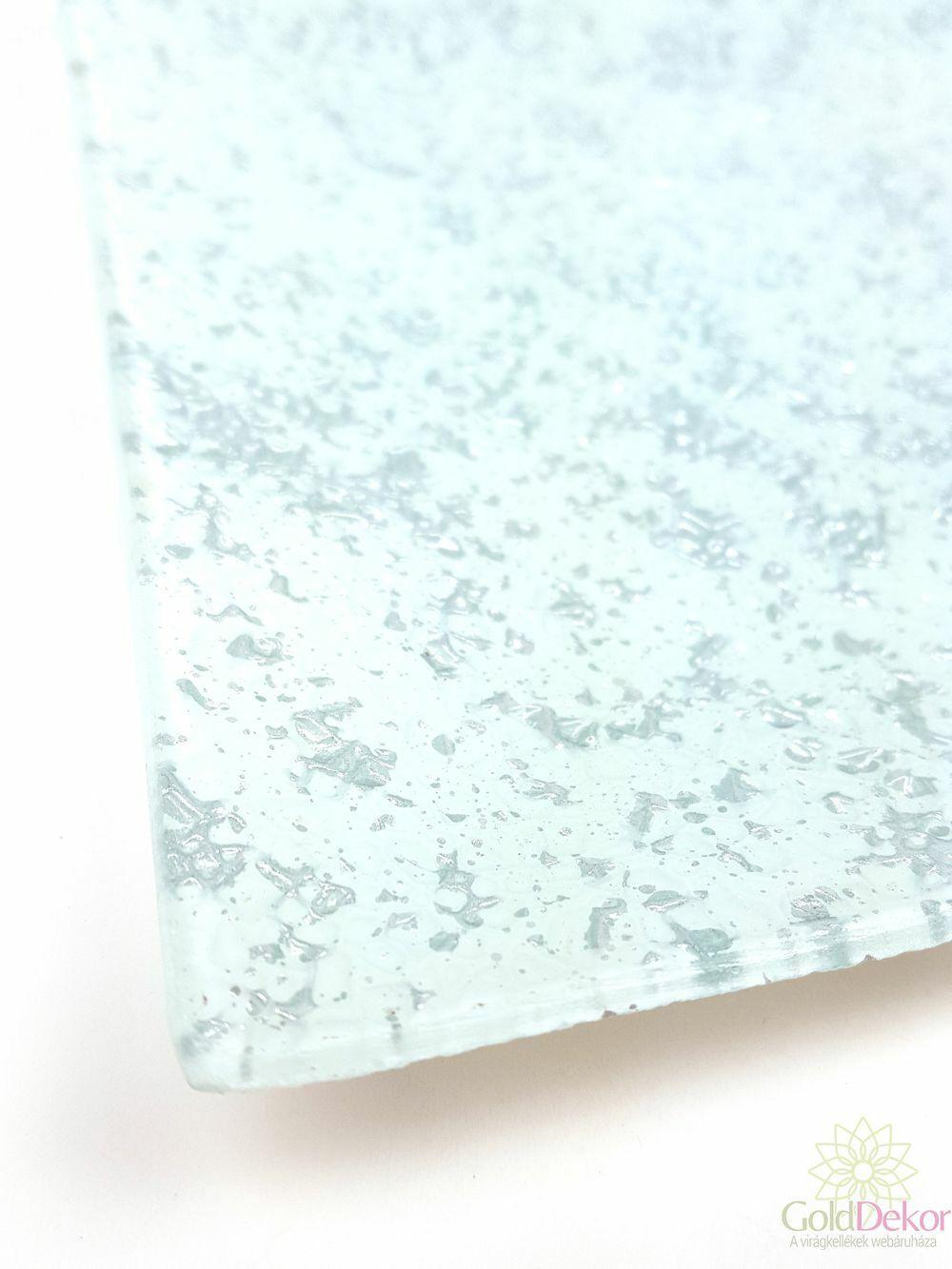 Üvegtál 19,5*19,5 cm - Fehér