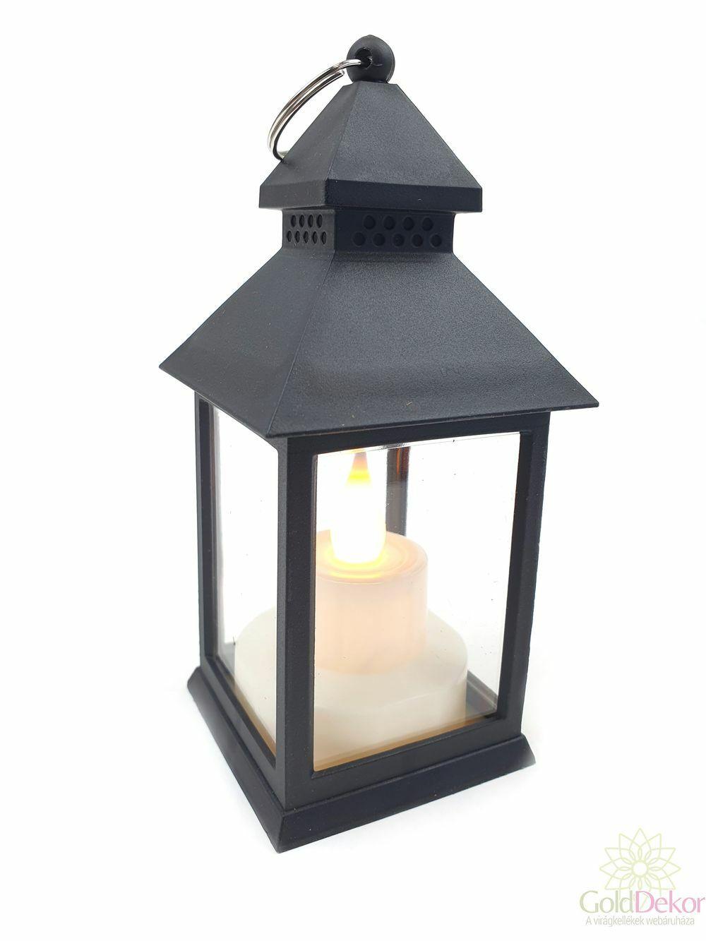 Led lámpás pagoda - Fekete