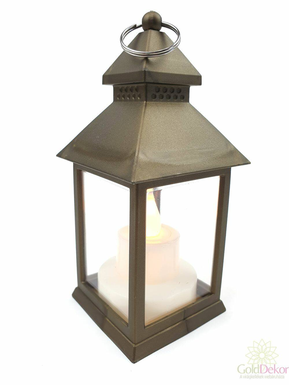 Led lámpás pagoda - Bronz