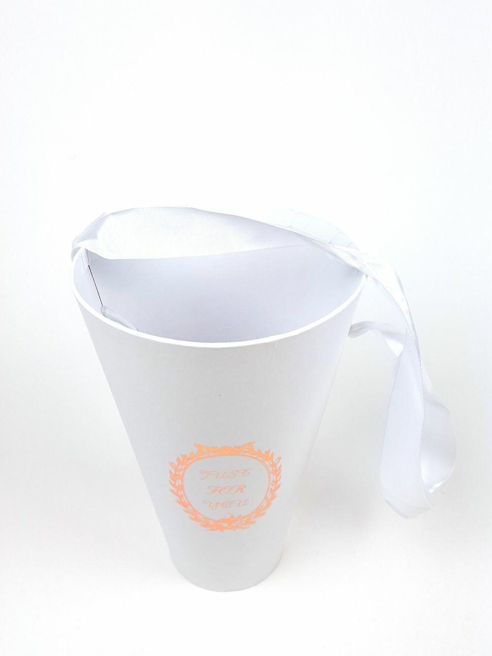 Tölcsér doboz - Fehér