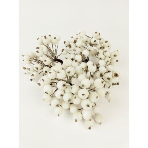 Csillámos drótos bogyó - Fehér