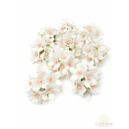Dekor fejvirág 8 - Fehér
