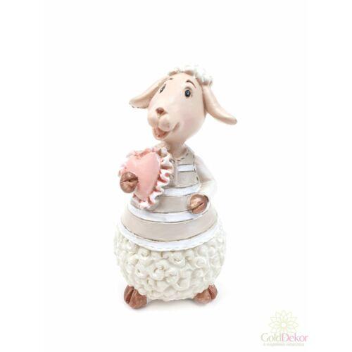 Szíves bárány figura