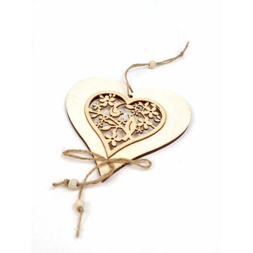 Fa dekor motívumos fa függő - Szív