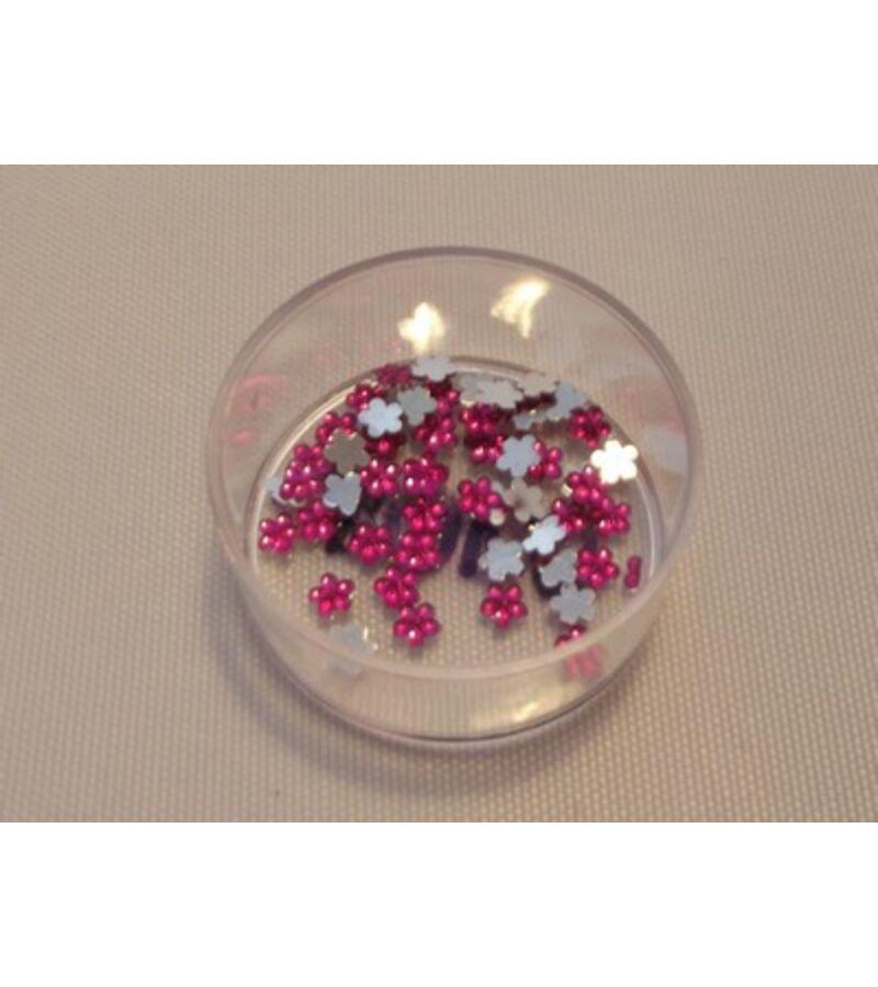 Virág strasszkő - PINK