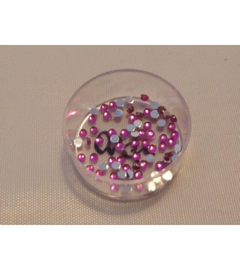 2mm-es strasszkő - PINK