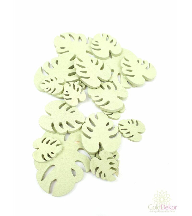 Fa dekor monstera B - Világos Zöld