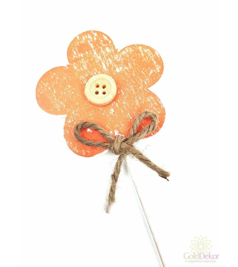 Koptatott fa virág betűző - Narancs