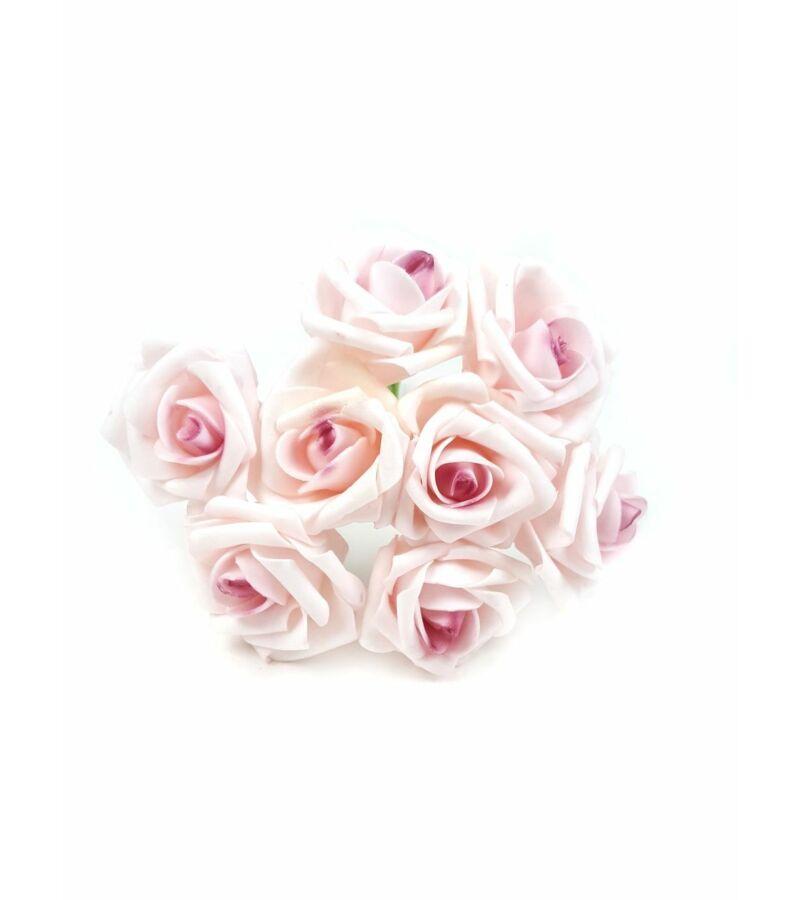 Drótos polyfoam rózsa 22 - Rózsaszín-Mályva