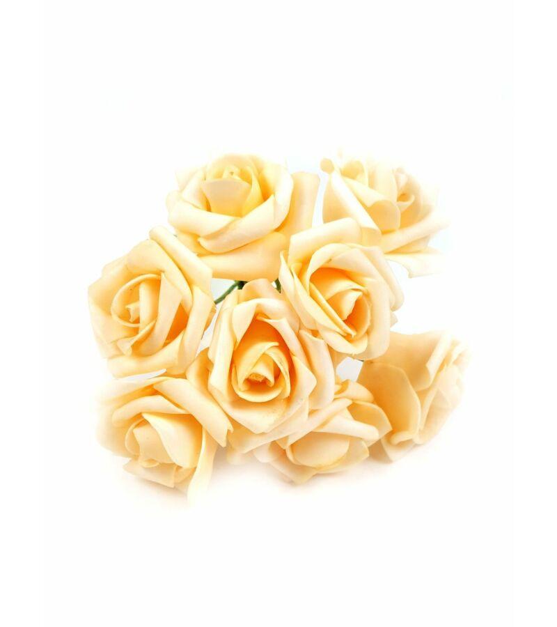 Drótos polyfoam rózsa 22 - Világos barack