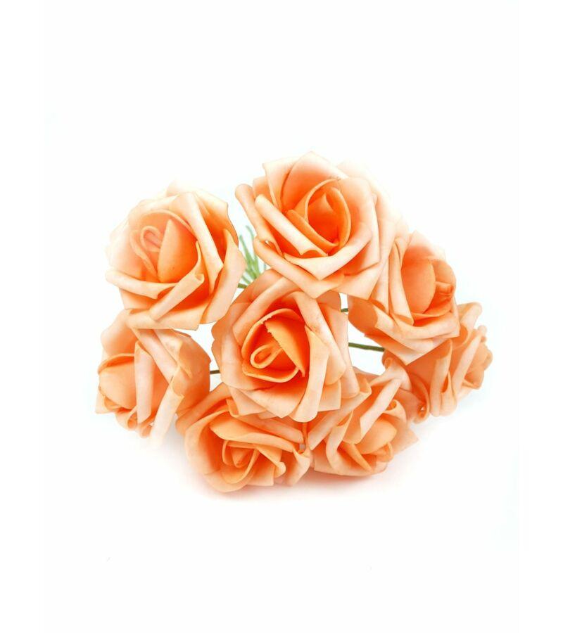 Drótos polyfoam rózsa 22 - Sötét Barack