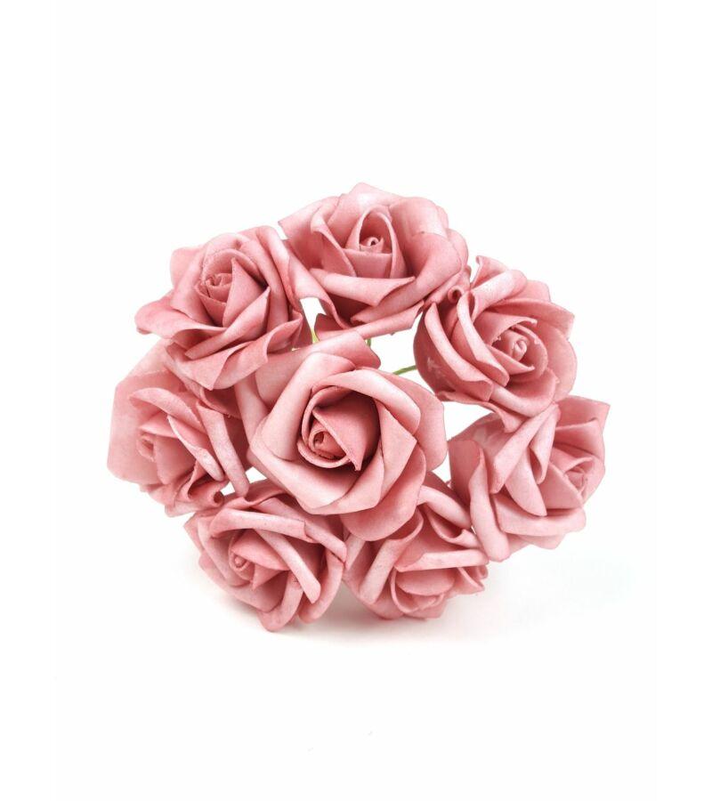 Drótos polyfoam rózsa 22 - Antik Mályva