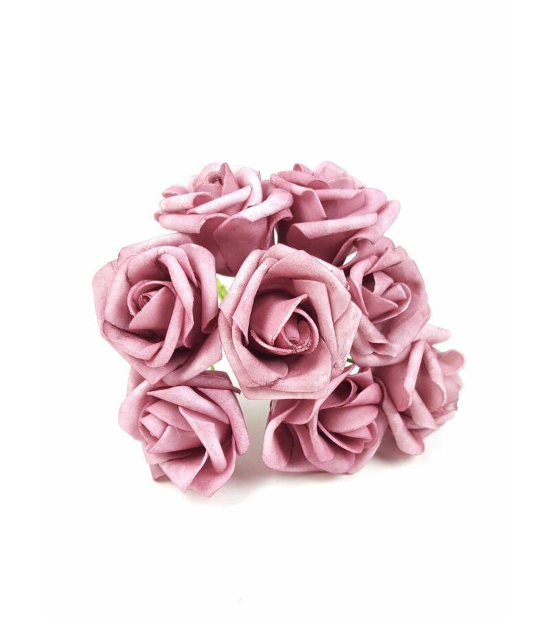 Drótos polyfoam rózsa 22 - Mályva