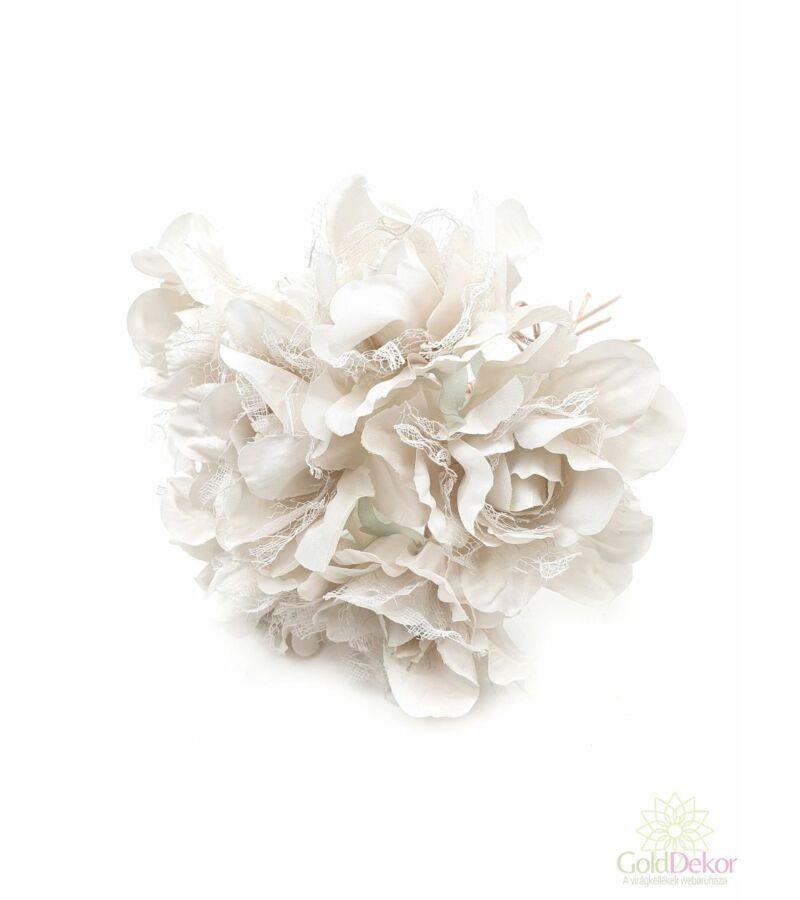 Tüllös dekor rózsa csokor - 02