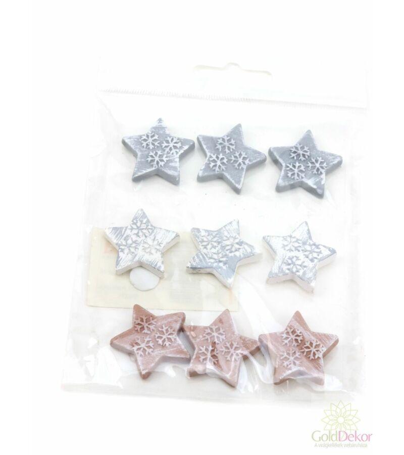 Öntapi színes polyresin forma - Teli csillag